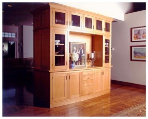 Bow front dining cabinet