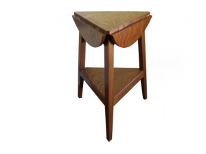 Cricket drop-leaf table.