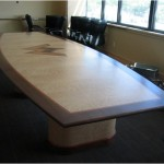 Gallery_Quilted Maple Pear and Walnut Conference Table
