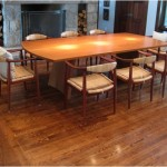 Gallery_Teak arched tressle dining table