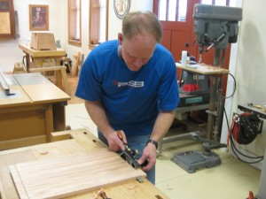 Cutting lid tenons with a rabbet plane