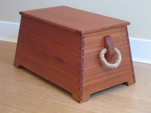 Mahogany sea chest built by Chris Gochnour