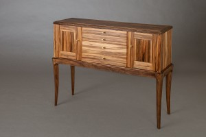 Sideboard made from walnut and gum wood
