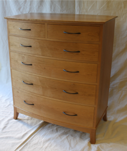 Cherry bow-front chest